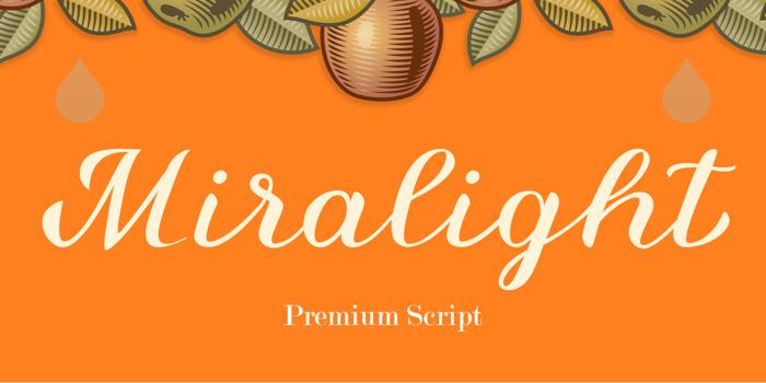 Miralight Font poster