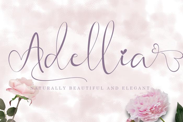 Adellia Font poster