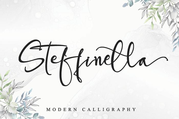 Steffinella Font poster