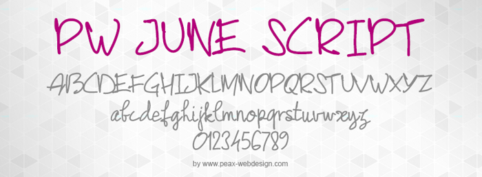 PWJunescript Font poster