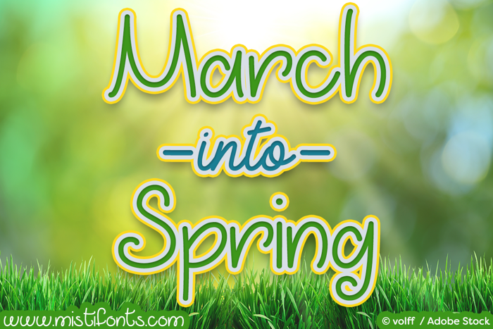 March into Spring Font poster