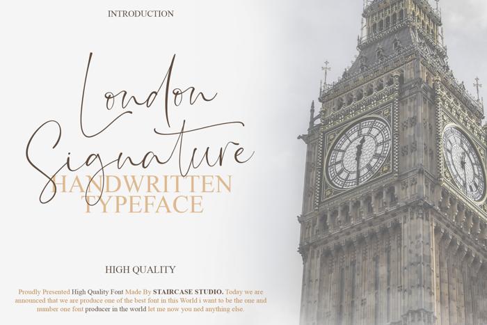 London Signature Font poster
