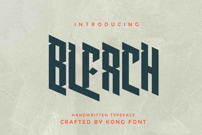 Bleach Font poster