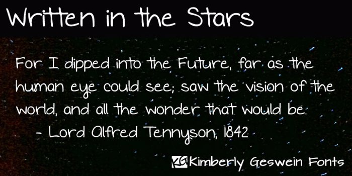 Written in the Stars Font poster