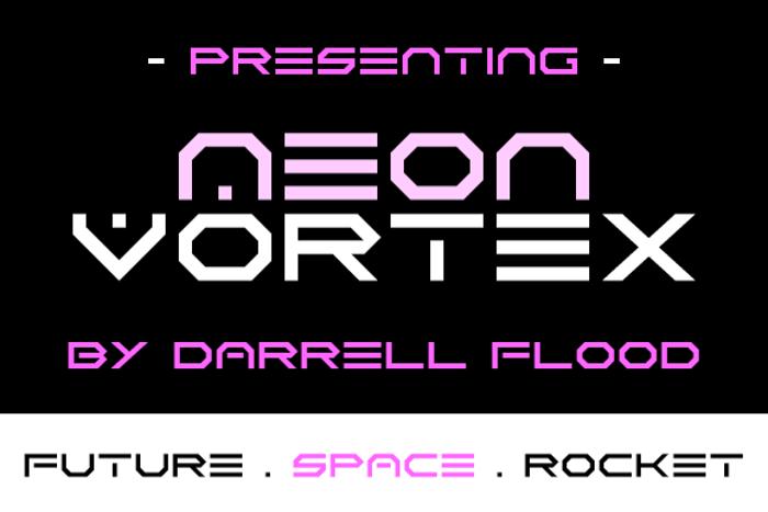 Neon Vortex Font poster