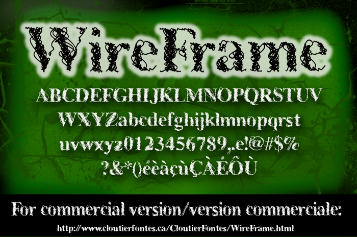CF WireFrame Demo Font poster
