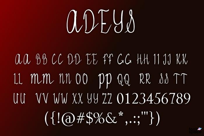 ADEYS Font poster