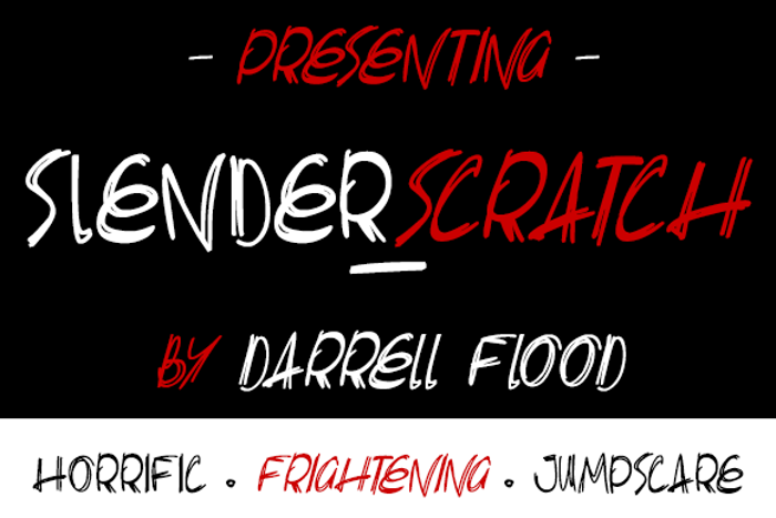 Slenderscratch Font poster