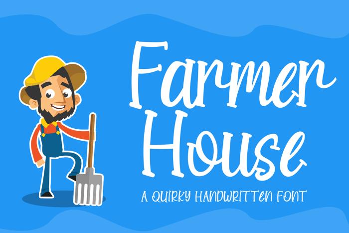 Farmer House Font poster