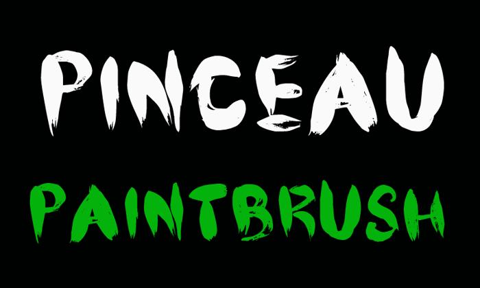 CF Pinceau Font poster