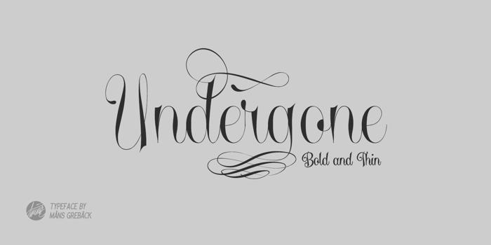 Undergone Font poster