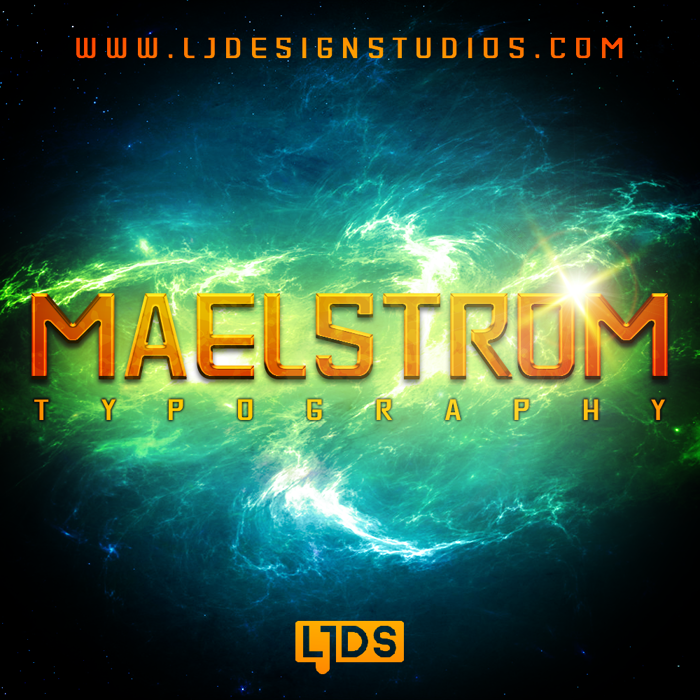 MAELSTROM Font poster