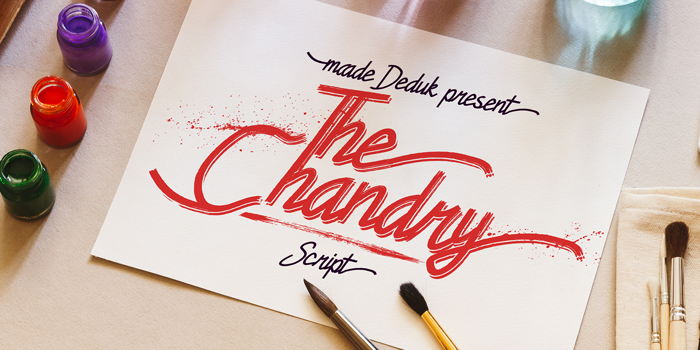 Chandry Font poster
