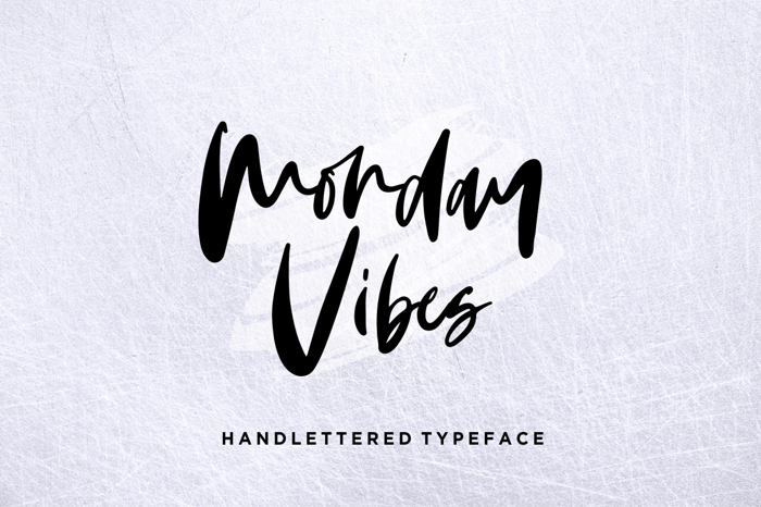 Monday Vibes Font poster