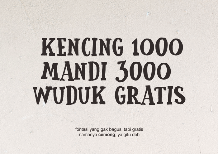 Cemong Font poster