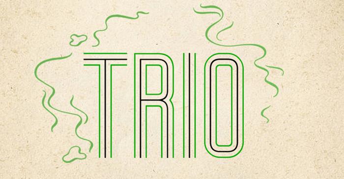 Trio Font poster