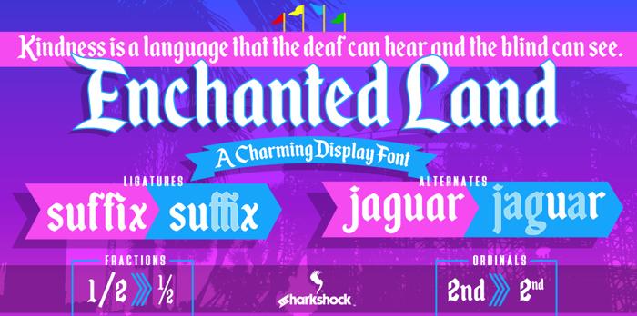 Enchanted Land Font poster