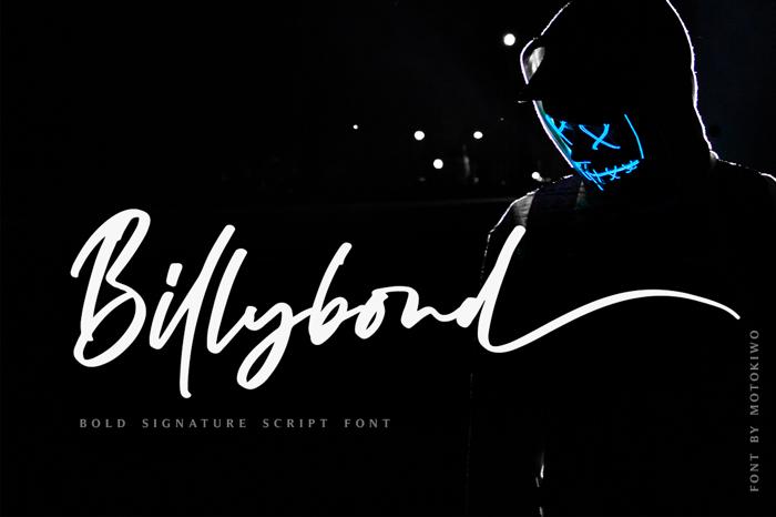 Billybond Font poster