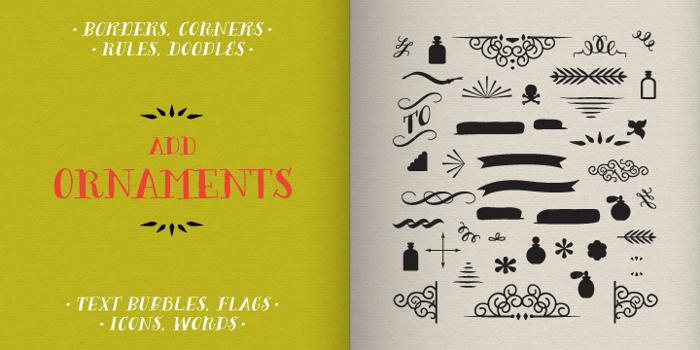 Bergamot Ornaments Font poster
