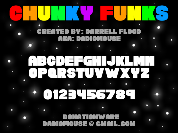 Chunky Funks Font poster
