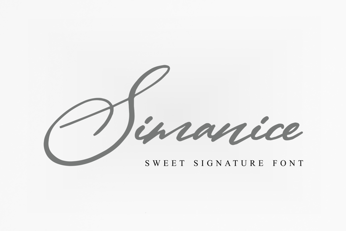 Simanice Font poster