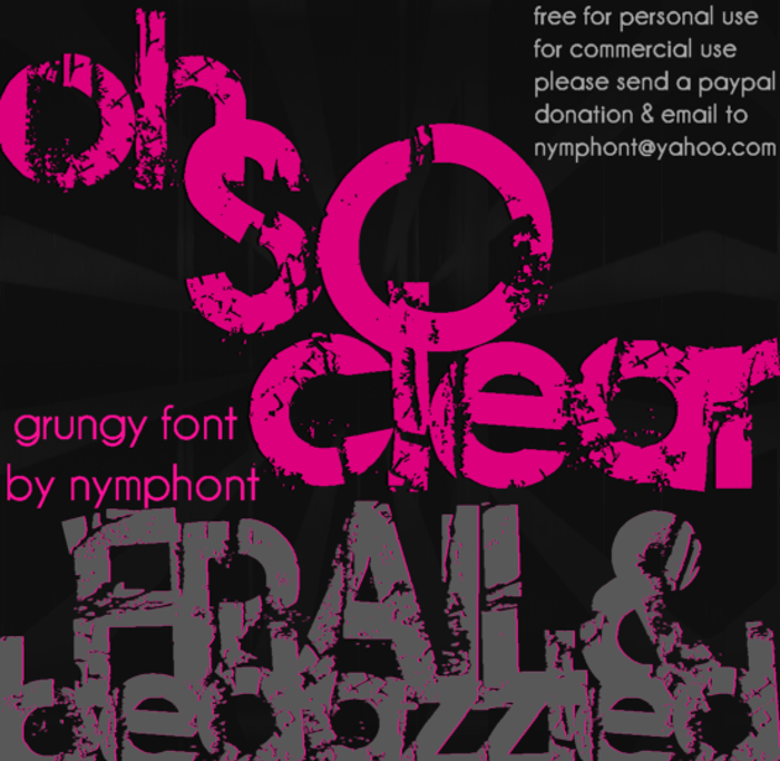 Frail & Bedazzled Font poster