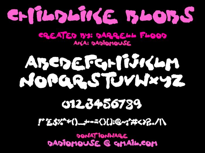 Childlike Blobs Font poster