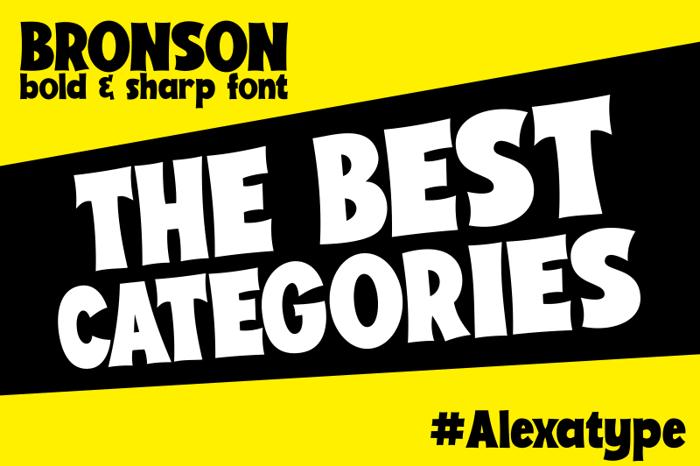 Bronson Font poster