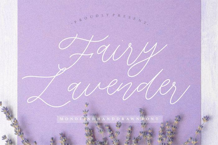 Fairy Lavender Font poster