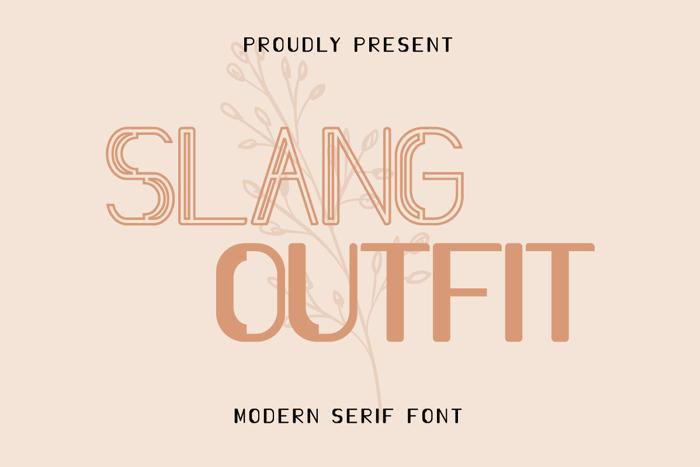 Slang Outfit Font poster