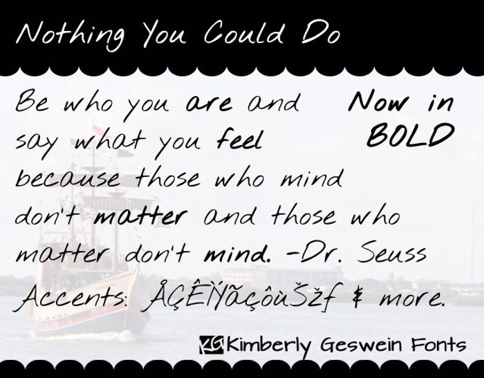 Nothing You Could Do Font poster