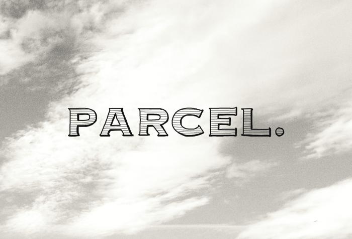 Parcel Font poster