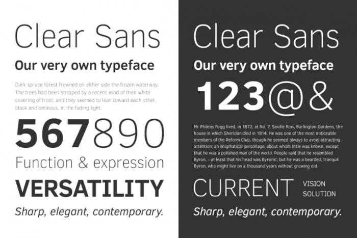 Clear Sans Font poster