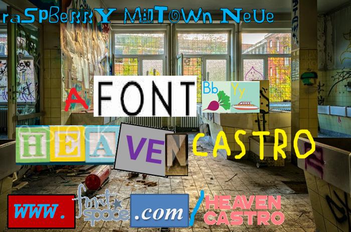 Raspberry Miltown Neue Font poster