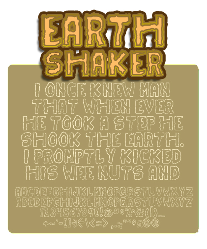 Earthshaker Font poster