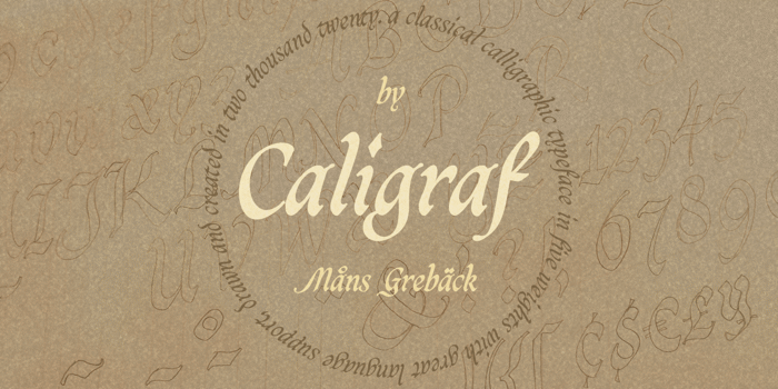 Caligraf Font poster