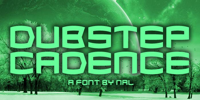 Dubstep Cadence Font poster