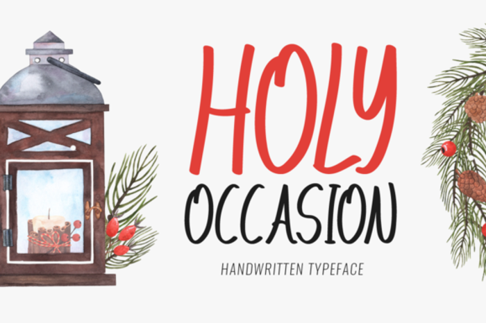 Holy Occasion Font poster