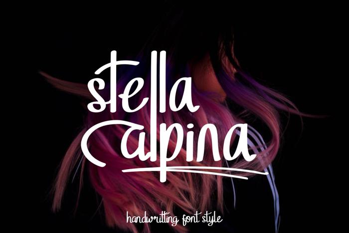Stella Alpina Font poster