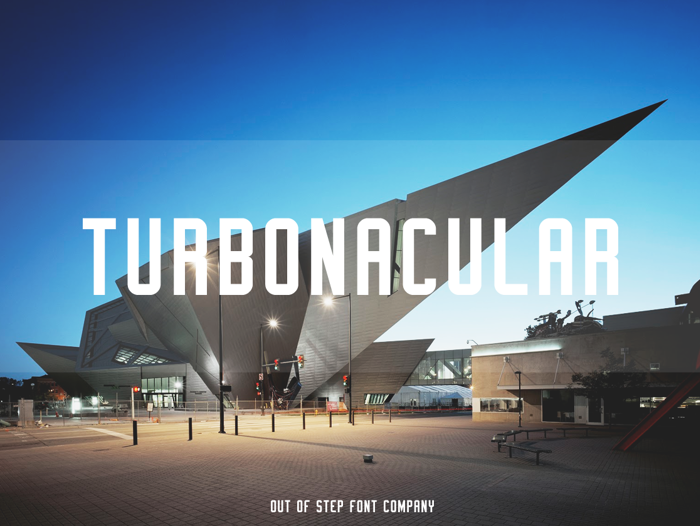 Turbonacular Demo Font poster