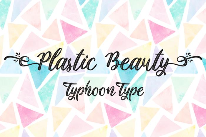 Plastic Beauty Font poster