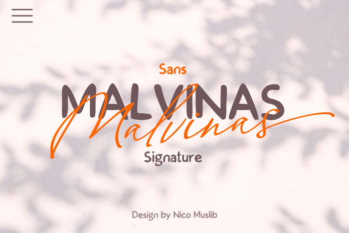 Malvinas Font poster