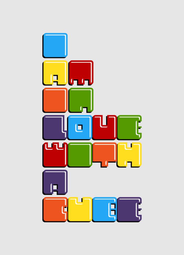 Cubes Font poster