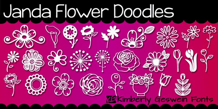 Janda Flower Doodles Font poster