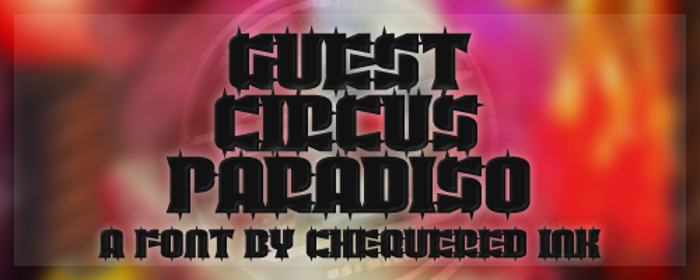 Guest Circus Paradiso Font poster