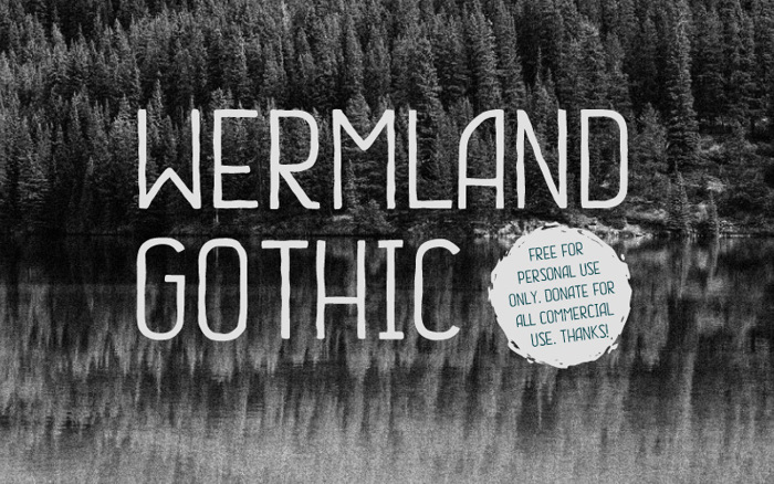 Wermland Gothic Font poster