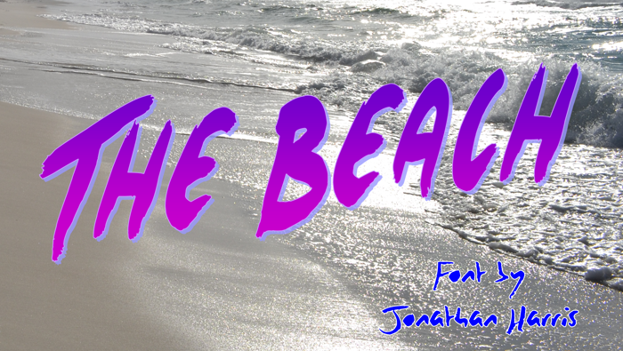 The Beach Font poster
