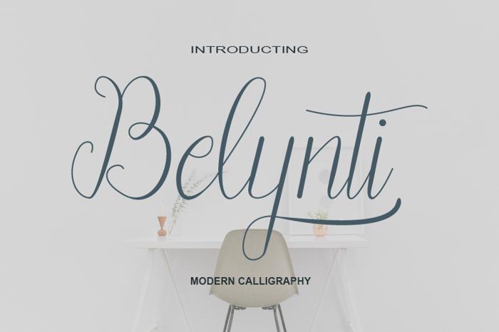 Belynti Script Font poster