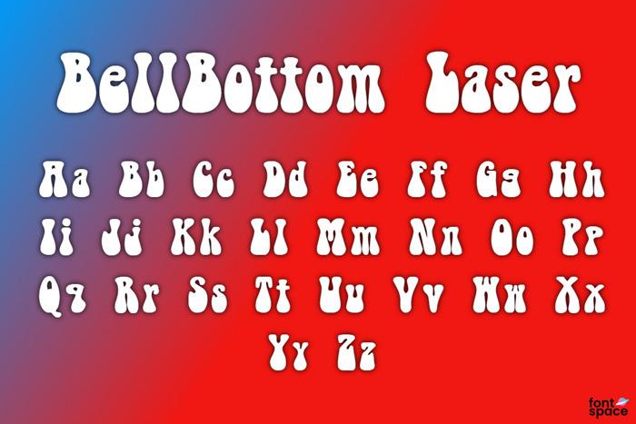 BellBottom Laser Font poster