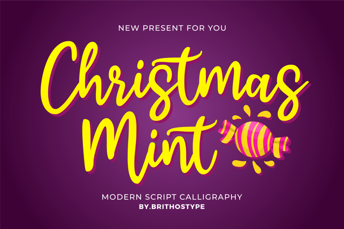 Christmas Mint Font poster
